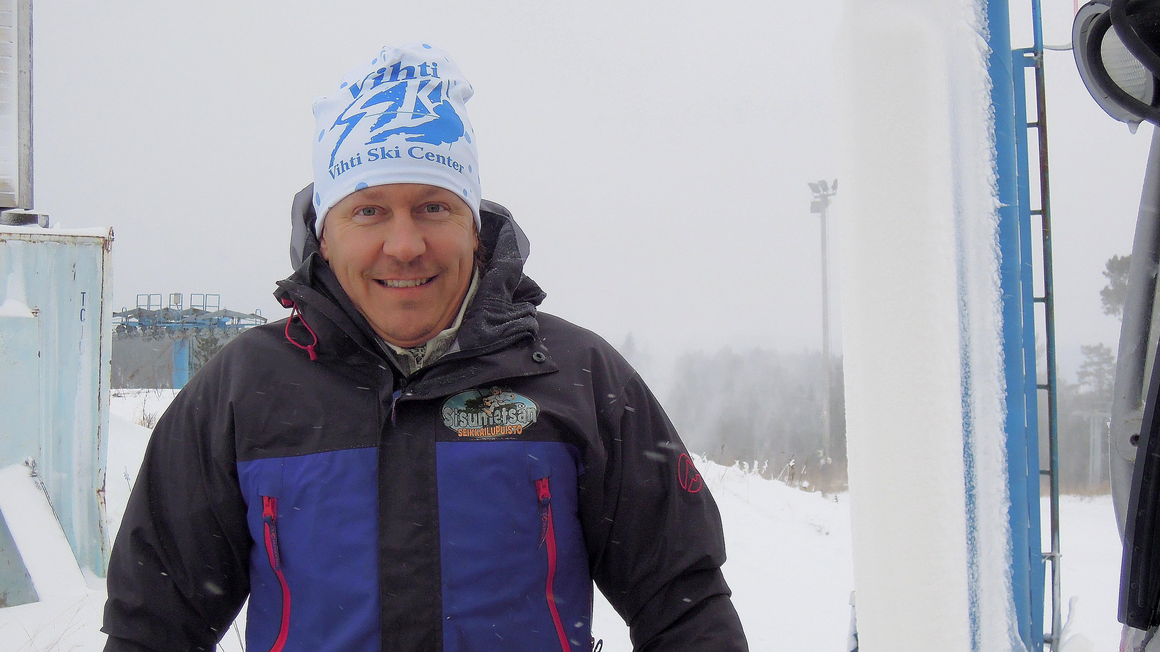 Sami Uotila pyörittää Vihti Ski Centeriä.
