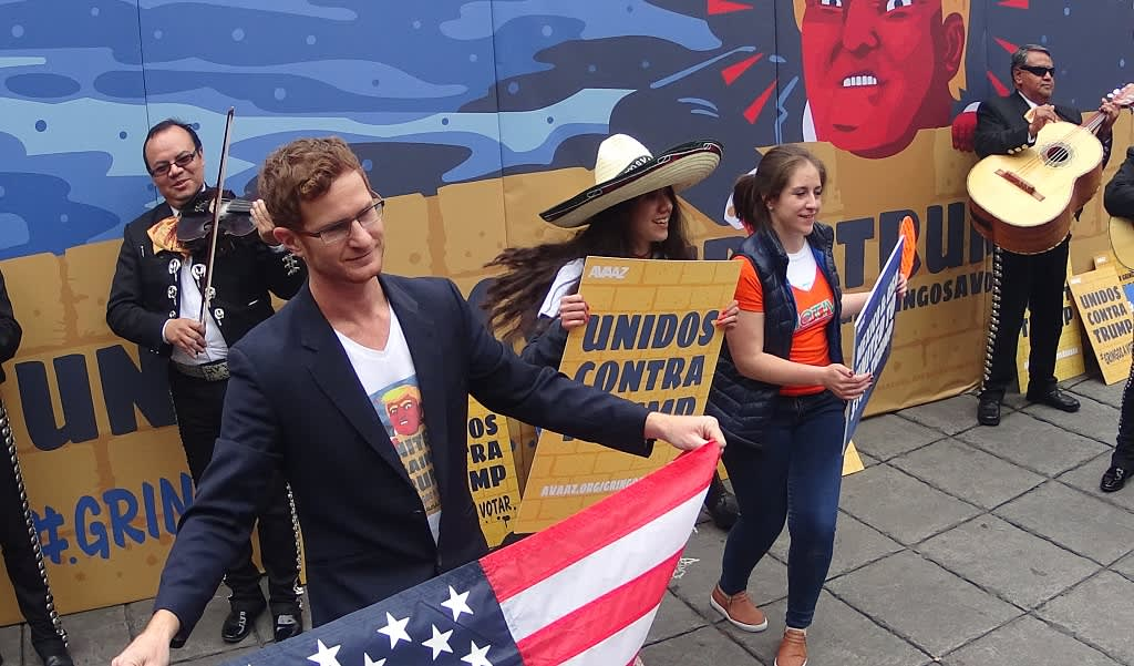 Meksikossa mielenosoittajat ja soittajat Trumpia vastaan