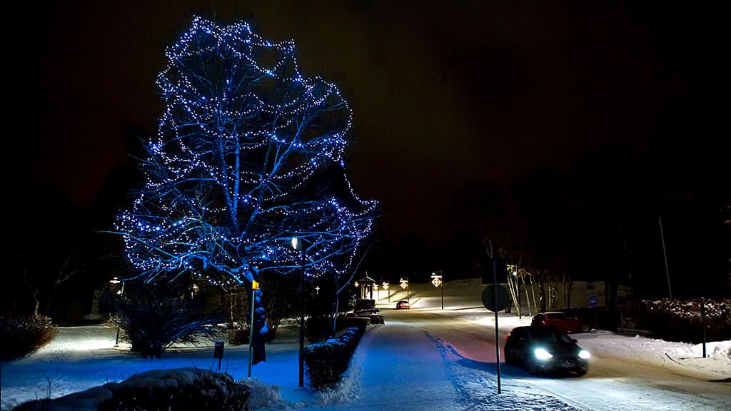 Jouluvalot Lappeenrannan linnoitusalueella