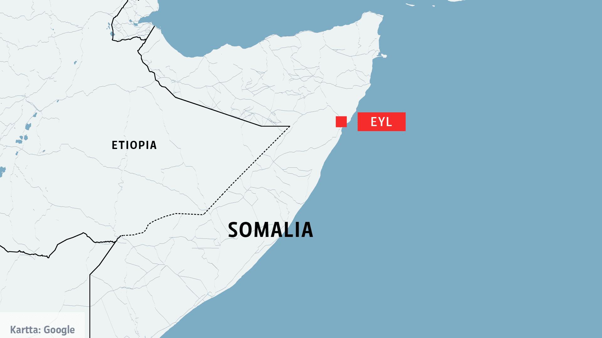 Somalian kartta.
