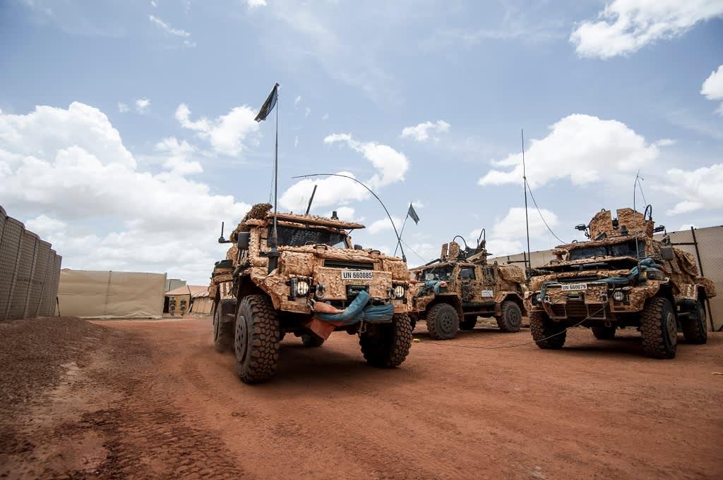 ruotsalaisia sotilasajoneuvoja Malissa