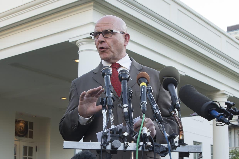 Yhdysvaltain kansallisen turvallisuuden neuvonantaja Herbert Raymond McMaster Washingtonissa toukokuun 15. päivä.