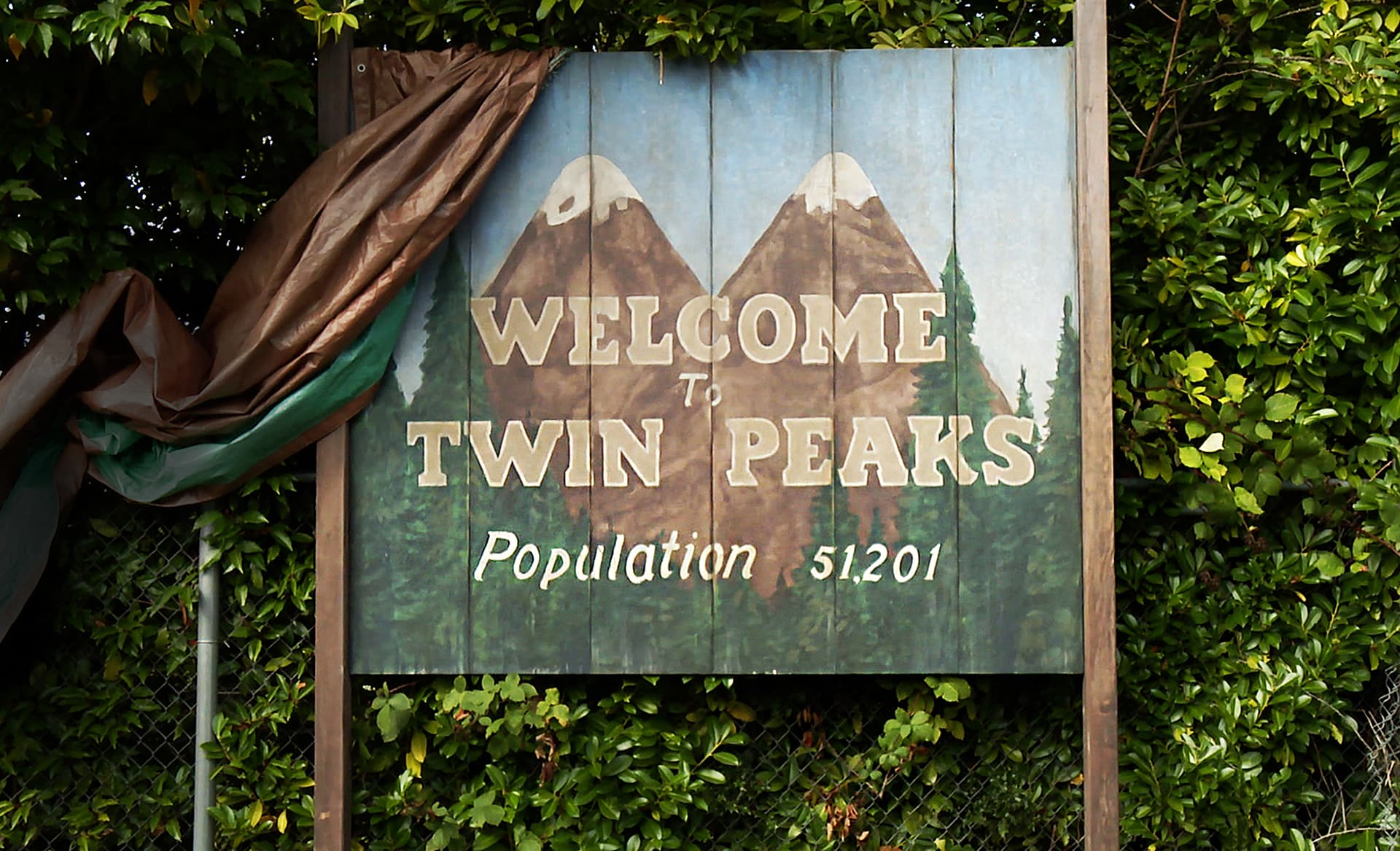 Twin Peaks kyltti.
