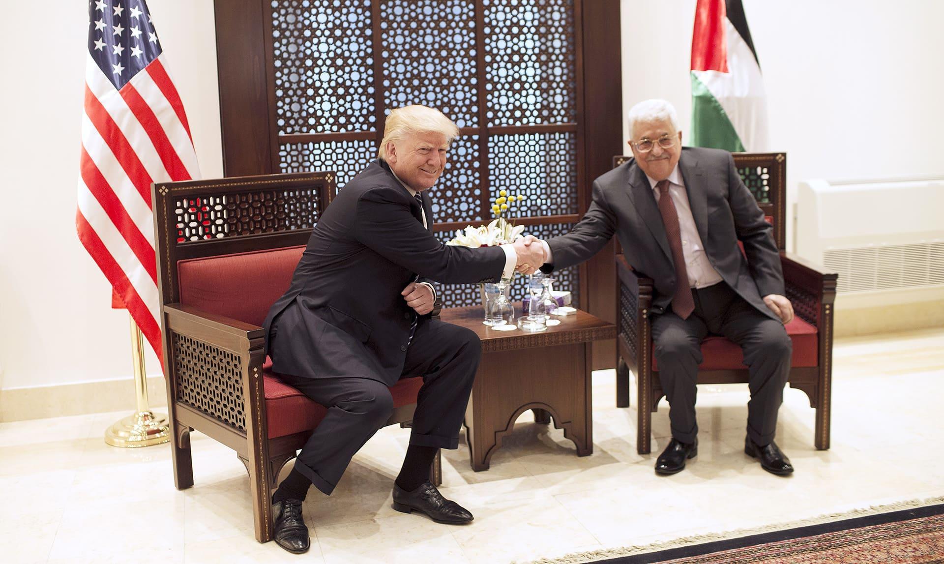 Mahmud Abbas ja Donald Trump tapasivat Betlehemissä 23. toukokuuta.