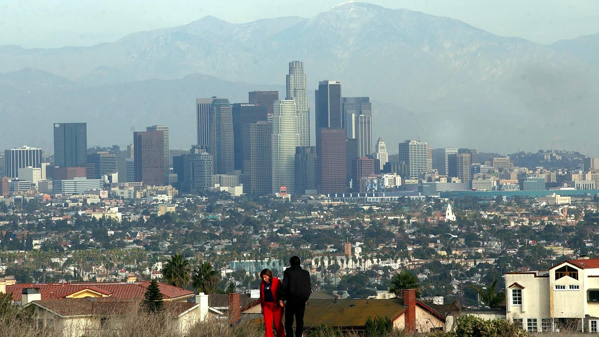 Näkymä Los Angelesista, Yhdysvalloista.