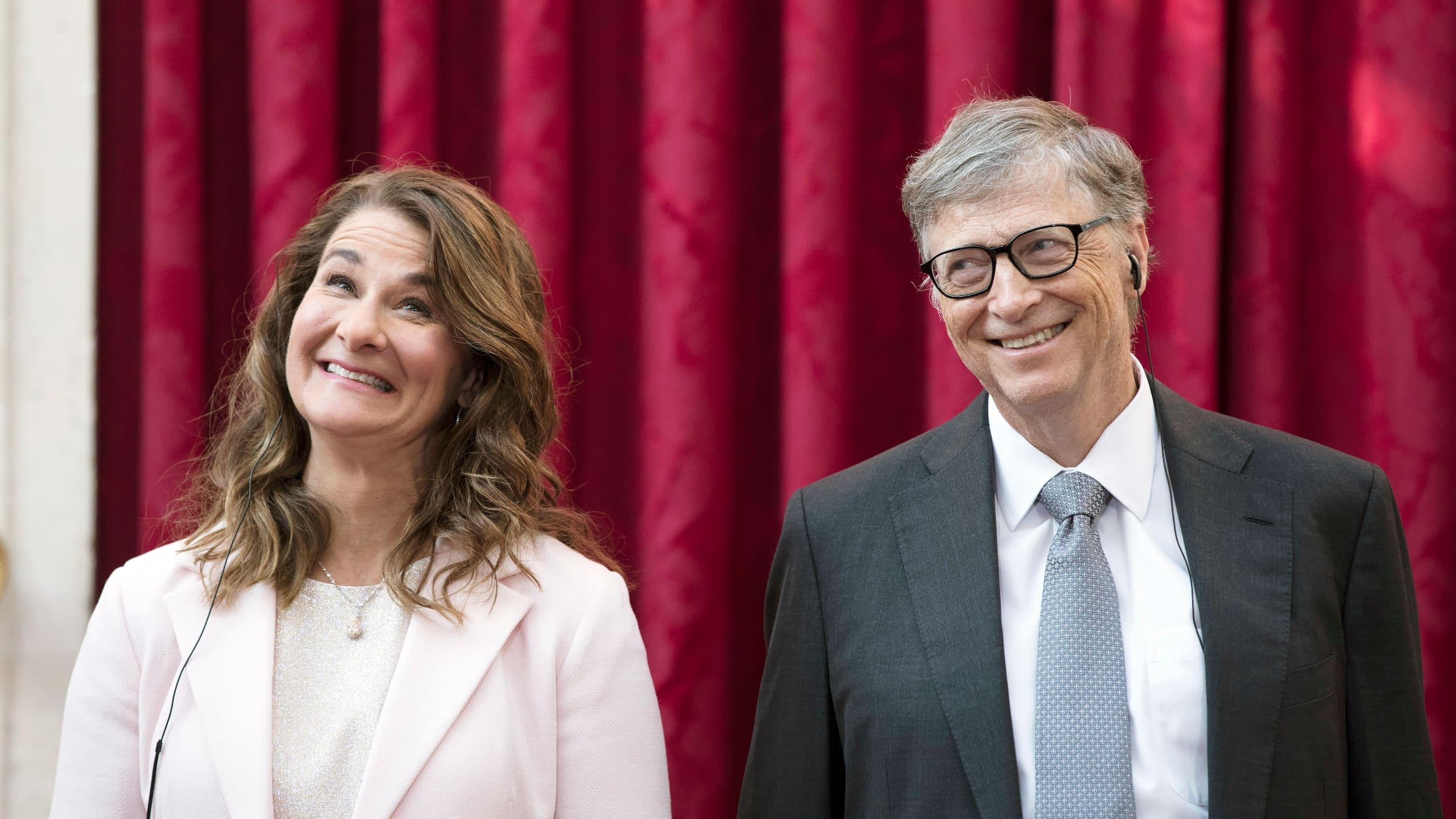 Melinda ja Bill Gates Pariisissa keväällä 2017.