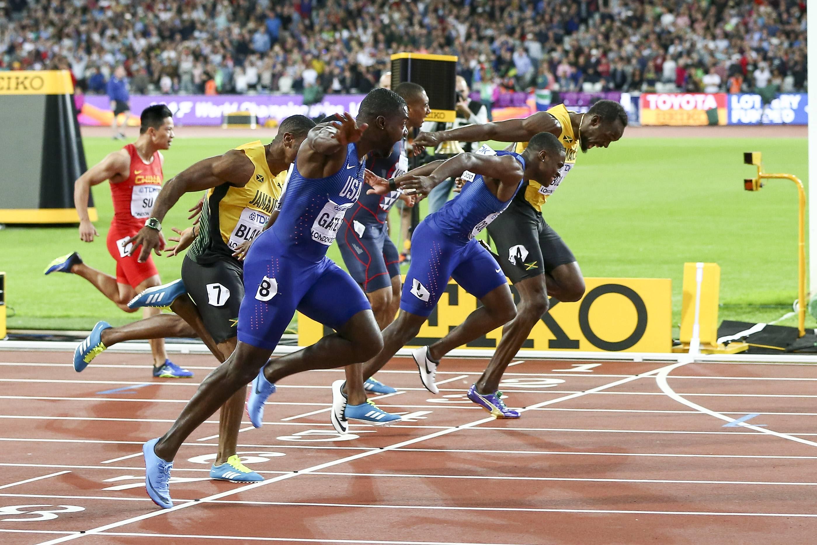MAaliintulo Justin Gatlin Christian Coleman Usain Bolt