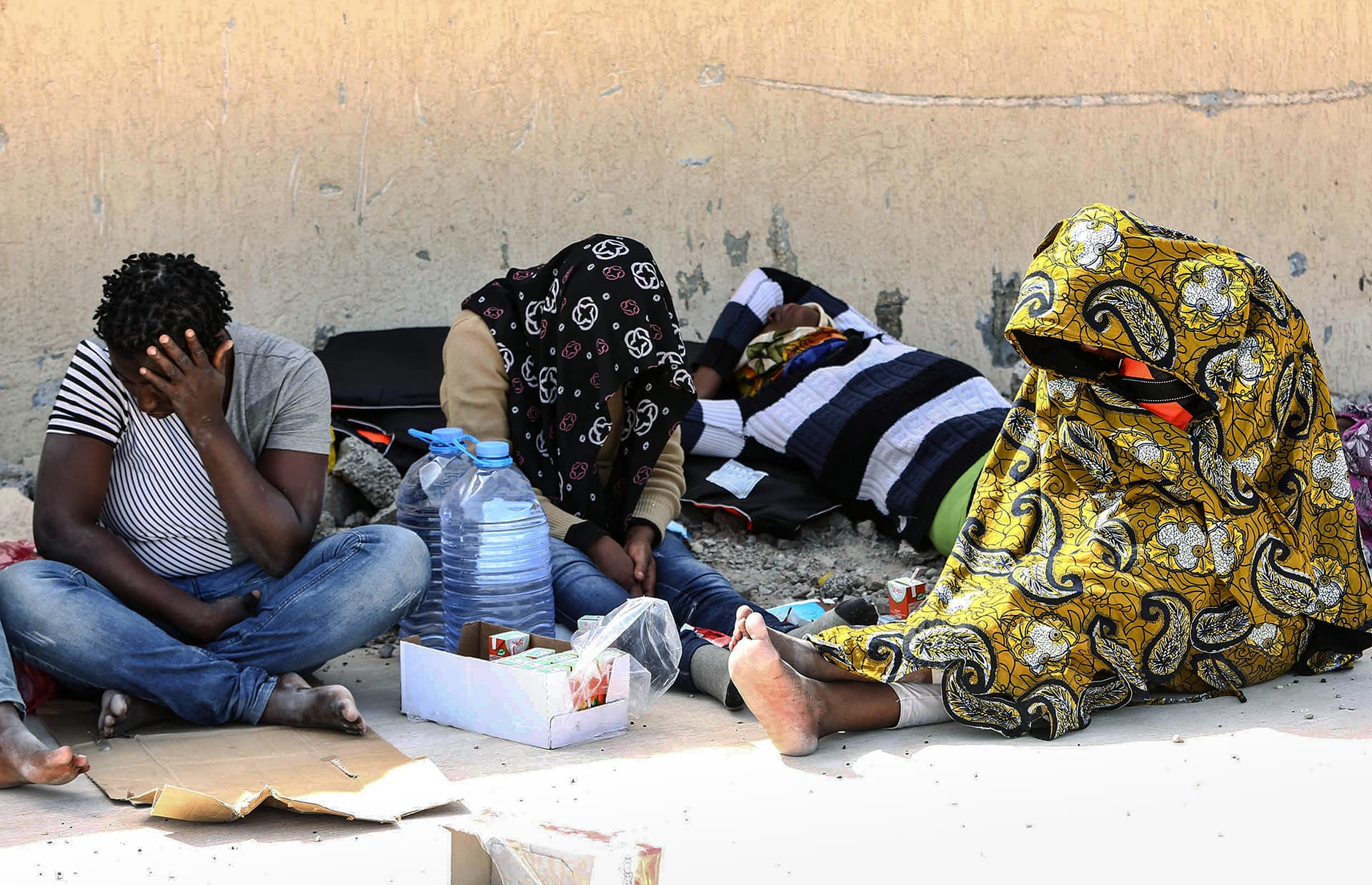 Nigerialaisia pakolaisia Qara Pollyssa 2015.