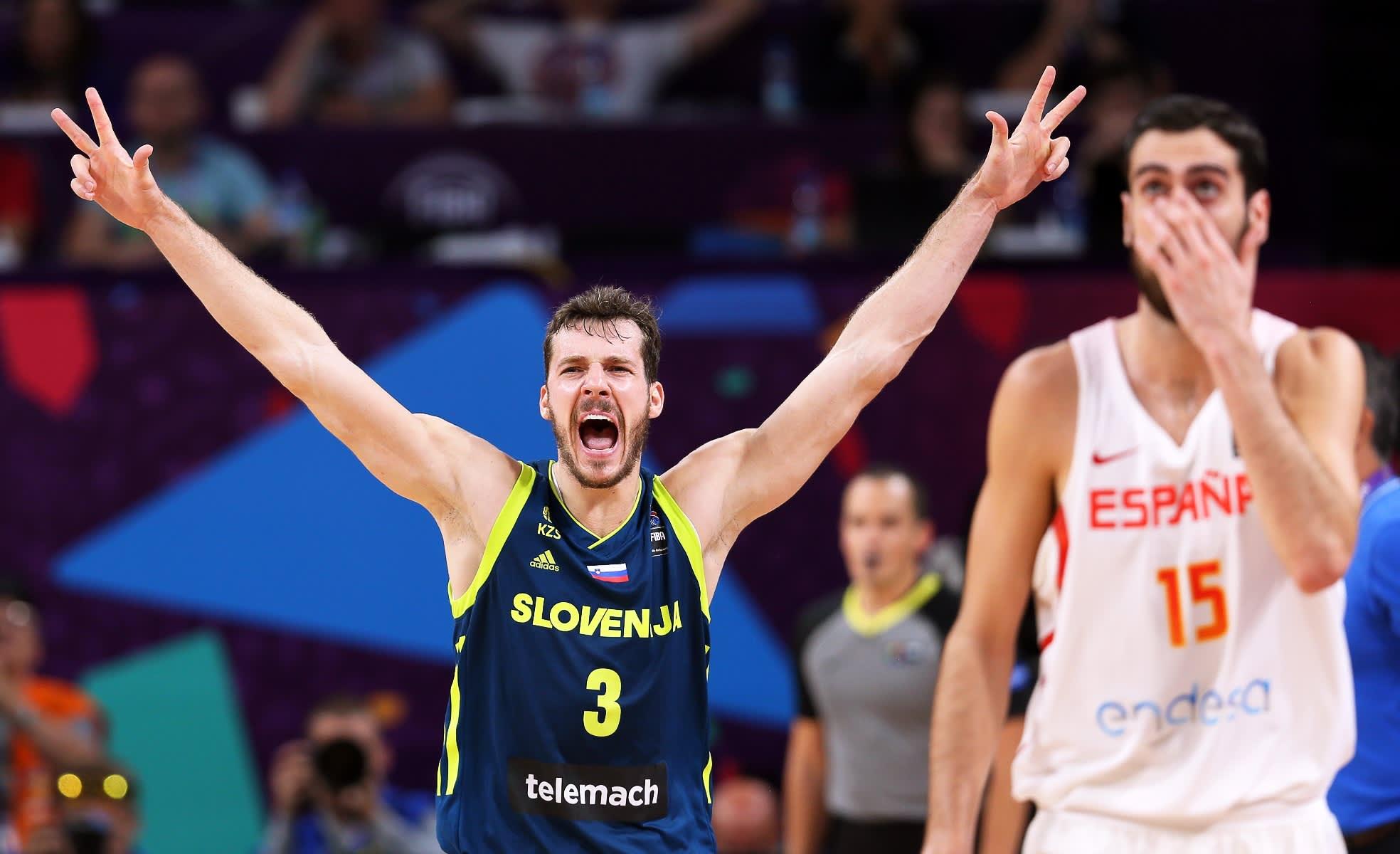 Slovenian Goran Dragic juhlii EM-finaalipaikkaa