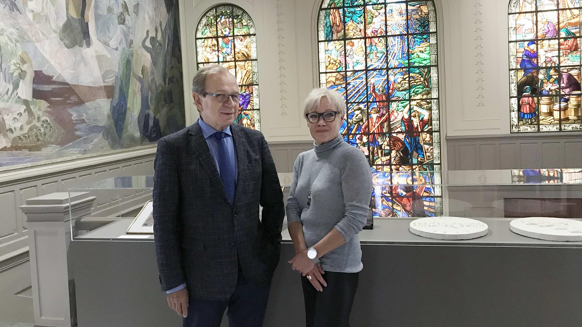 Erkki Liikanen ja Susanna Turunen.