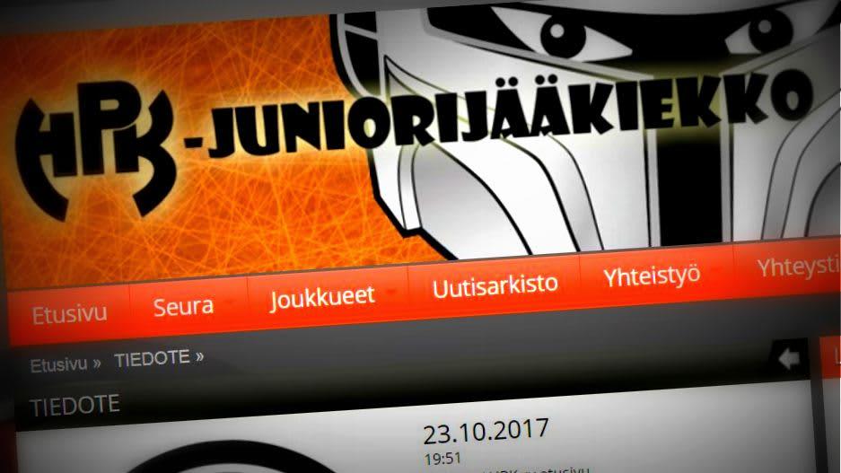 Juniorijääkiekon logo seuran verkkosivuilta