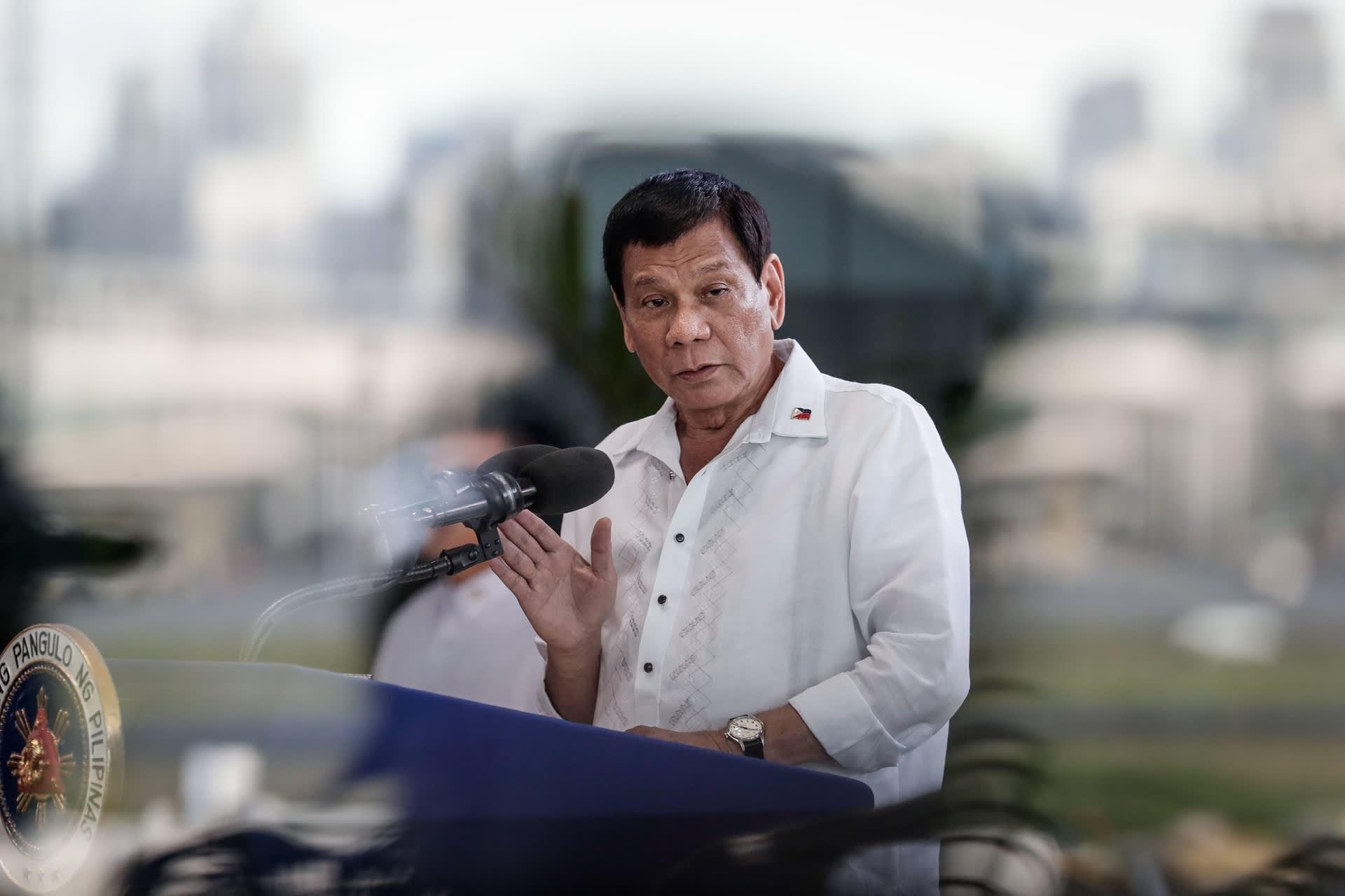 Filippiinien presidentti Rodrigo Duterte