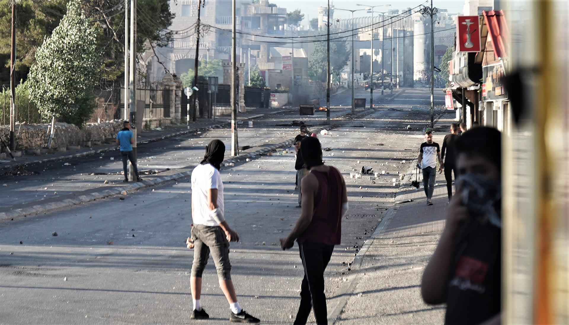 Palestiinalaisnuoriso otti yhteen Israelin armeijan kanssa Betlehemissä Länsirannalla. Sotilaat ampuivat muun muassa kyynelkaasua.