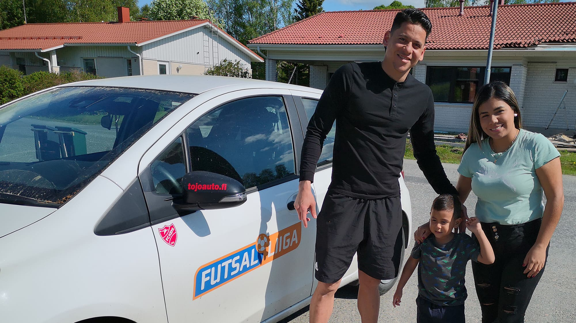 Enderson Suarez, poika Aaron ja vaimo Endery