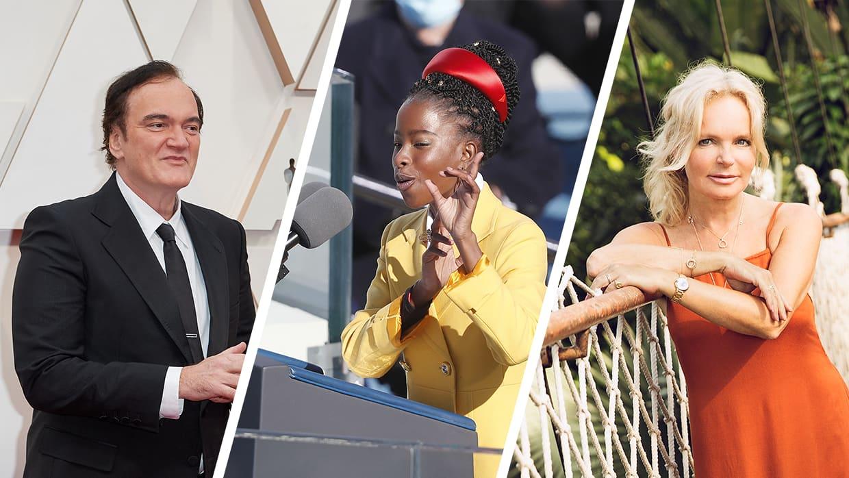 Kuvakollaasissa Quentin Tarantino, Amanda Gorman ja Lucinda Riley