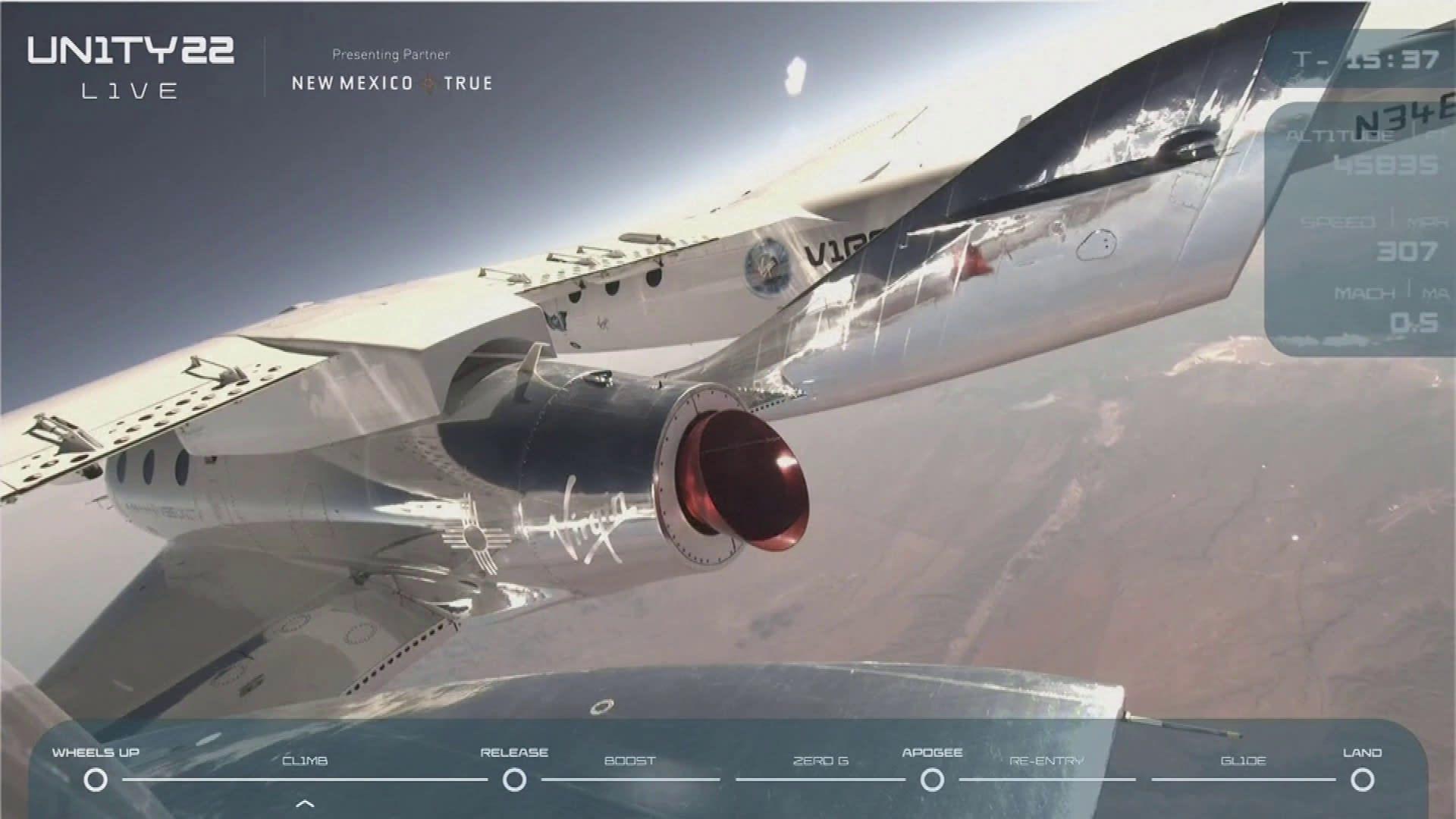 Tältä näytti miljardööri Richard Bransonin matka avaruuden reunalle