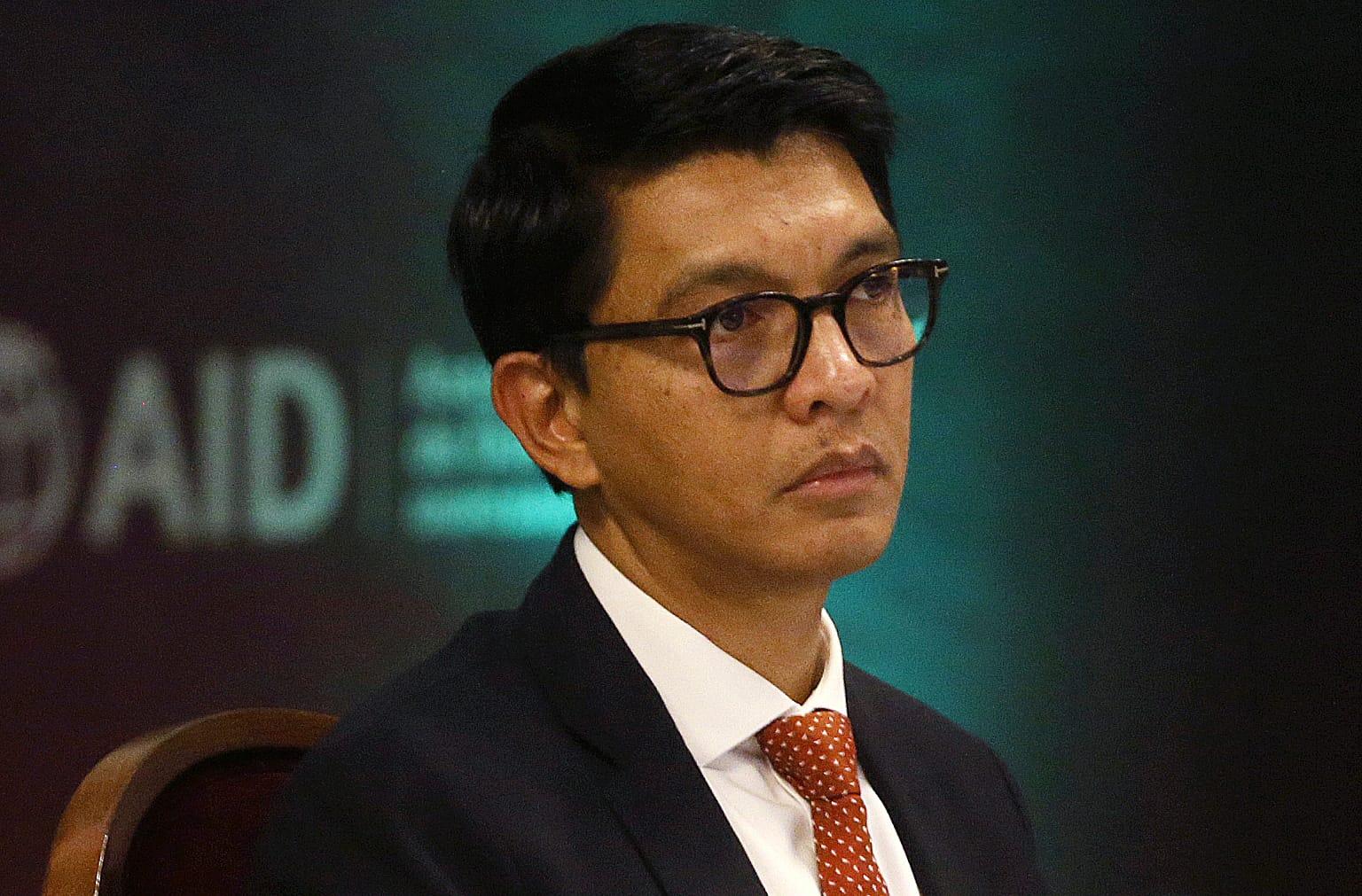 Madagaskarin presidentti Andry Rajoelina.