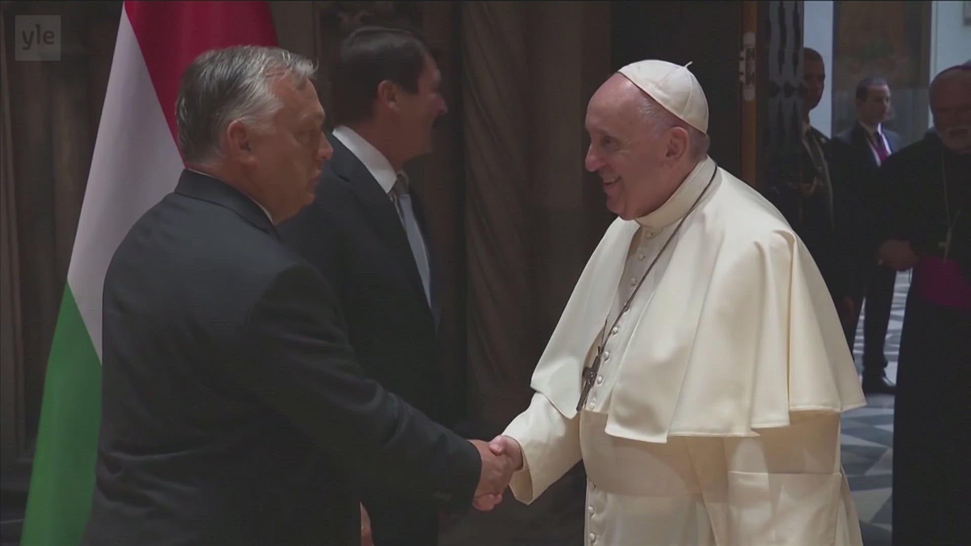 Paavi Franciscus vieraili Unkarissa