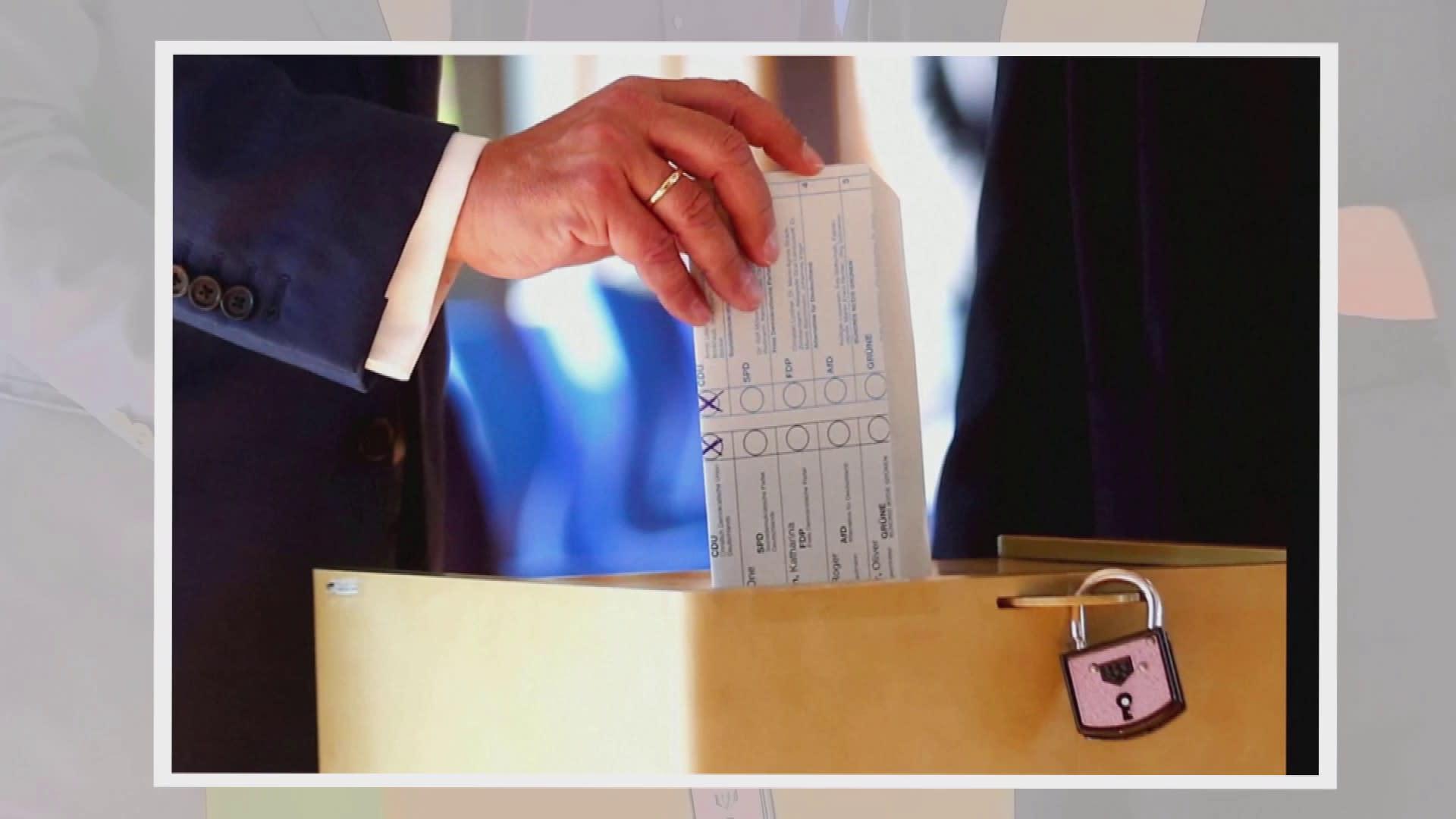 Kristillisdemokraattisen unionin CDU:n Armin Laschetin äänestysmerkintä paljastui uutiskuvissa