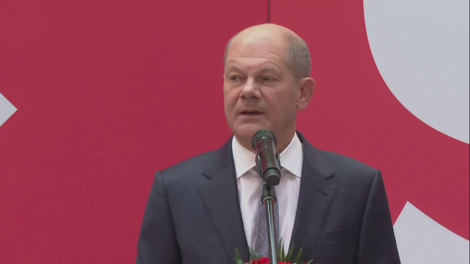 Olaf Scholtz: Äänestäjät antoivat mandaatin muodostaa hallitus