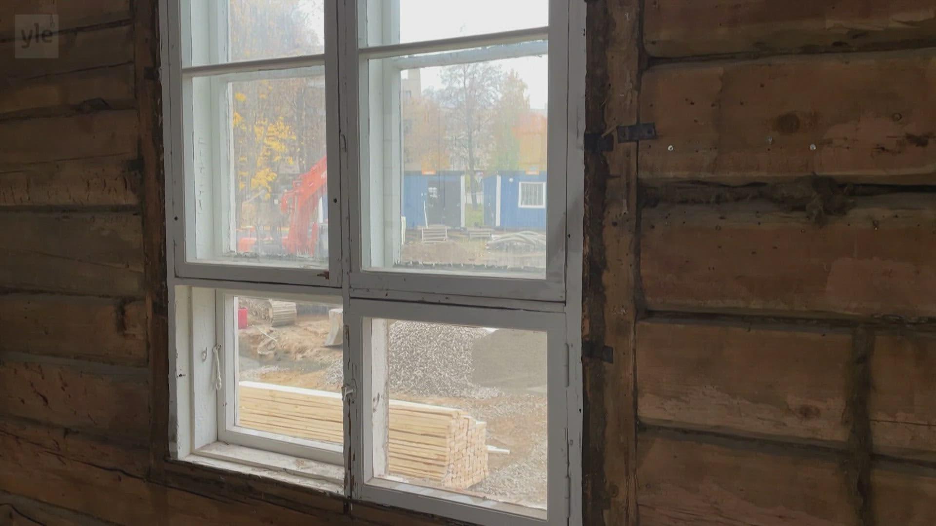 Kurkista Sissilinnan remontin kulissien taakse: tältä näyttää riisuttu sisäpuoli.