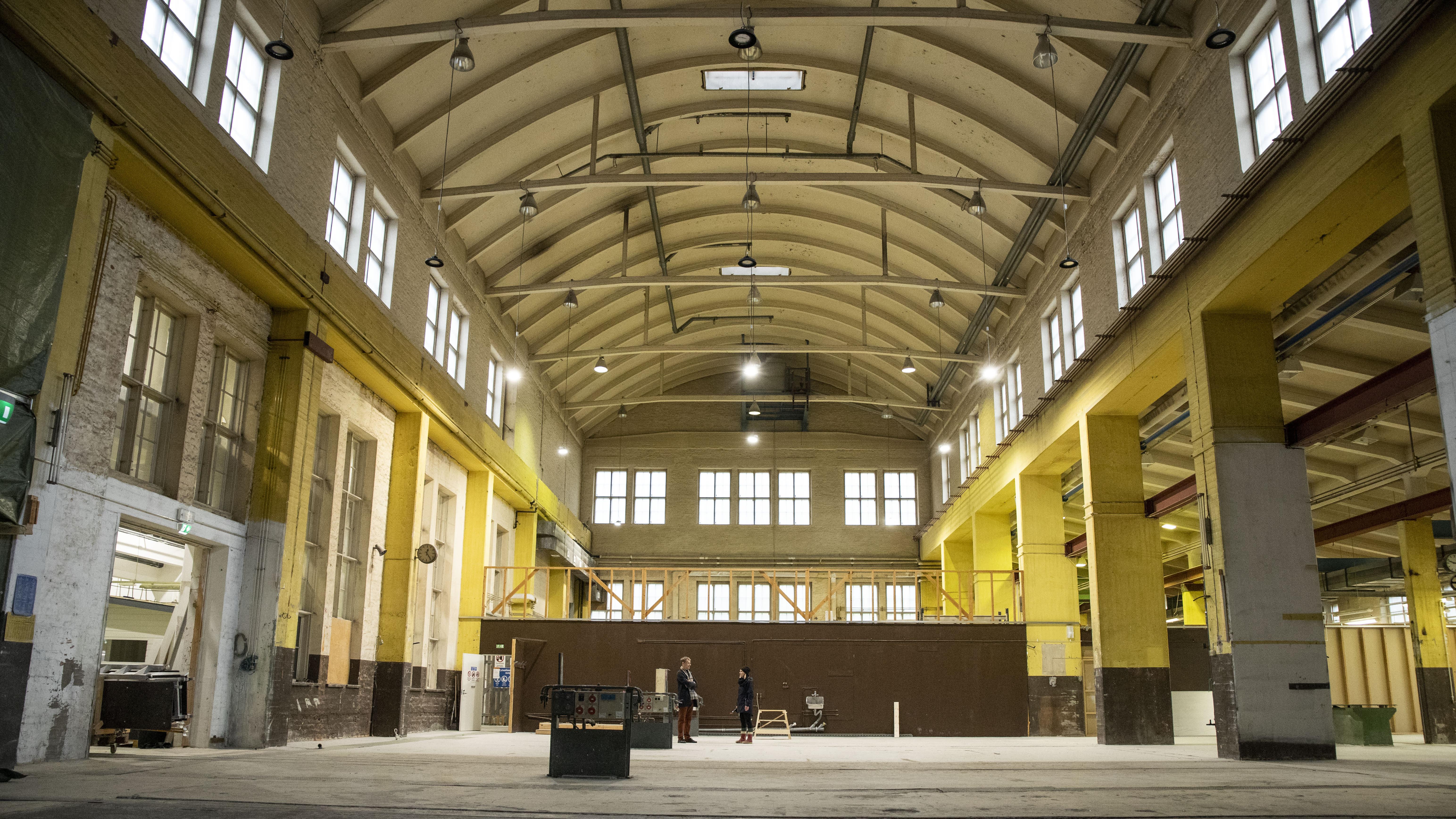 Tältä näyttävät vanhan asema-alueen rakennukset sisältä.