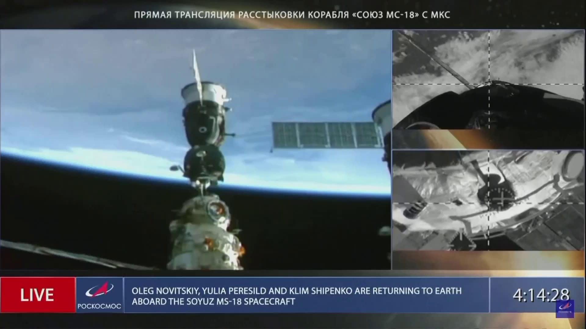 Venäläinen Sojuz MS-18 -avaruusalus toi elokuvan tekijät takaisin maahan