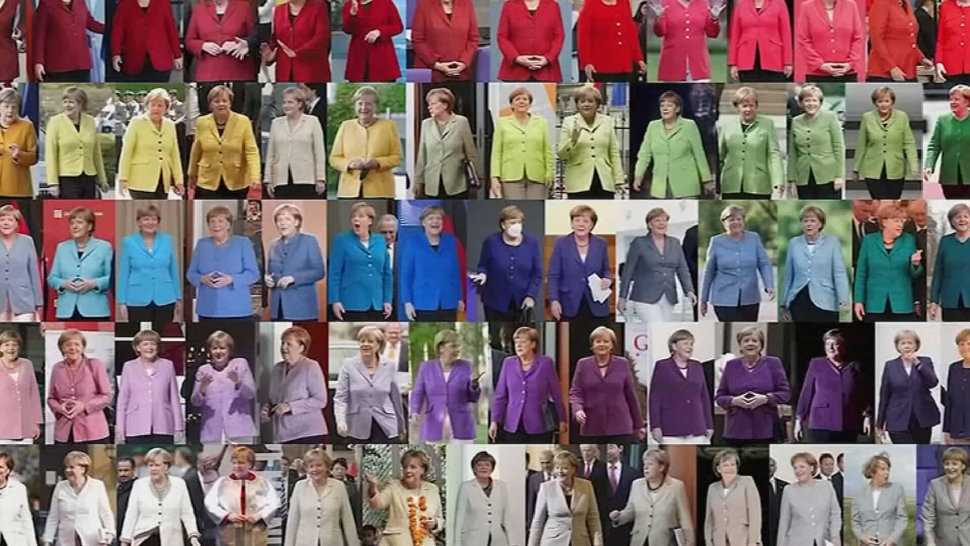 Liittokansleri Angela Merkelin värisuora: vuodet vierivät, mutta jakku pysyi