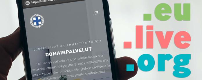 Kuva Suomen verkkoturvakeskuksen sivustosta älypuhelimen näytöllä.