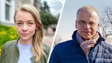 Kirjeenvaihtajat Iida Tikka ja Mika Hentunen.
