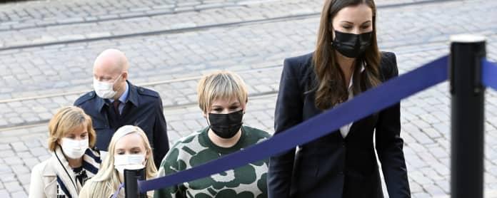 Jussi Saramo, Anna-Maja Henriksson, Maria Ohisalo, Annika Saarikko ja Sanna Marin