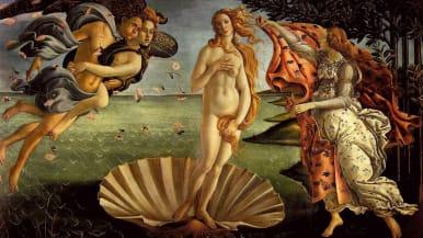 Sandro Botticellin Venuksen syntymä maalaus