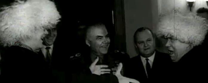 Kekkonen ja Hruštšov Zavidovossa (1963).