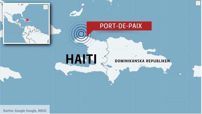 Varsta Jordskalvet Sedan Katastrofen 2010 Har Drabbat Haiti