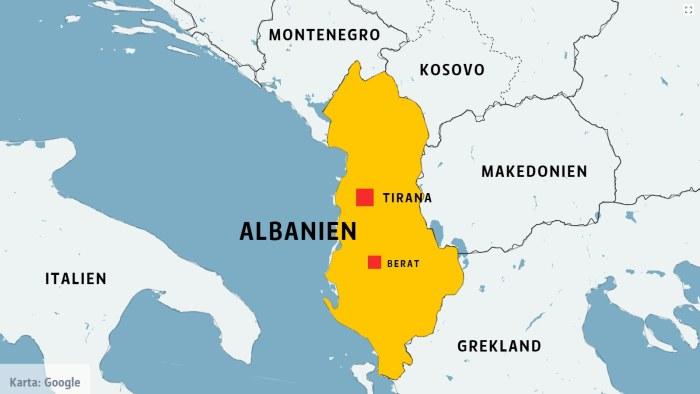 albanien karta Muslim eller kristen? Inte så stor skillnad i Albanien | Utrikes  albanien karta