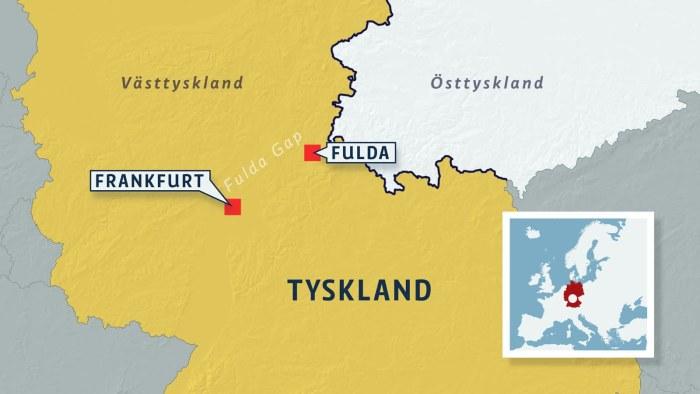 Fulda Gap I Tyskland Slagfaltet Dar Slaget Till All Lycka