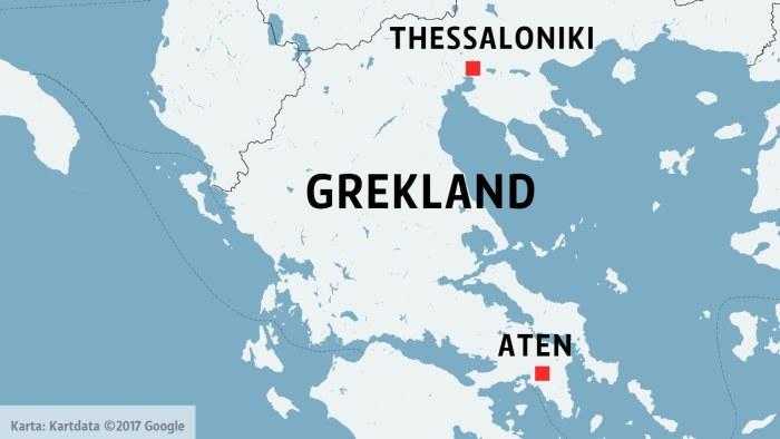 Karta Europa Grekland.Flera Doda I Tagolycka I Grekland Utrikes Svenska Yle Fi