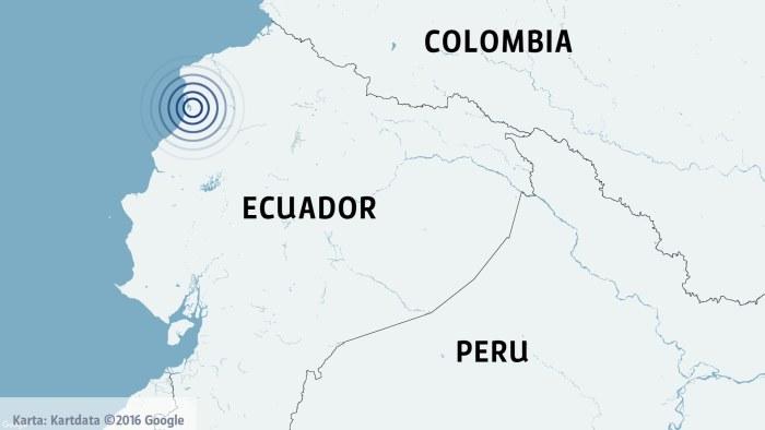 Kraftiga jordskalv i peru