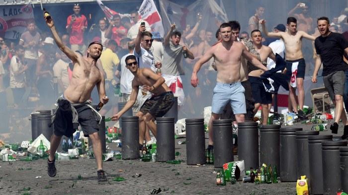 De ryska fansen provocerades