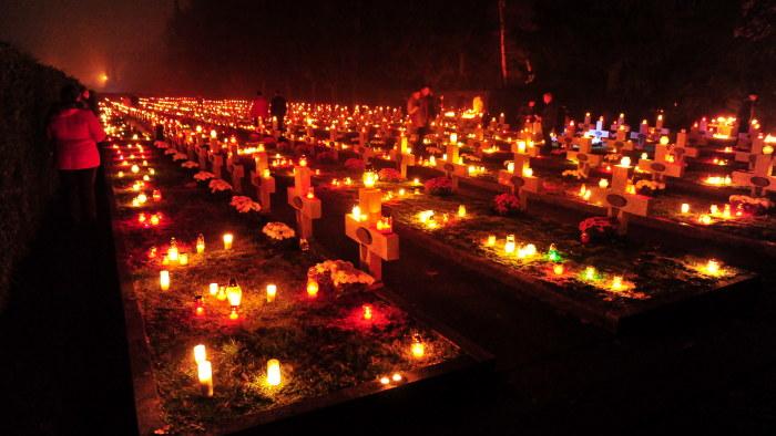 ljus på graven