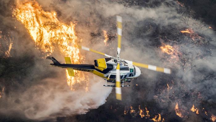 Helikopterkrasch i spansk skogsbrand