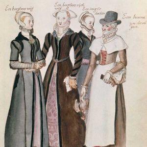 1500-talskvinnor på marknad av Lucas de Heere, ca 1570