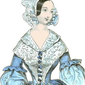 Mode på 1800-talet: bild från gammal tidning (1840)