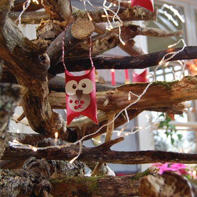Julgran av gamla kvistar.
