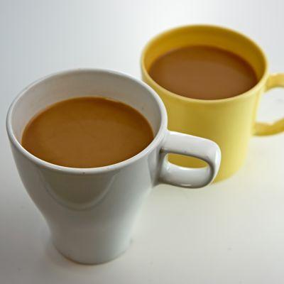 Two mugs of coffee.
