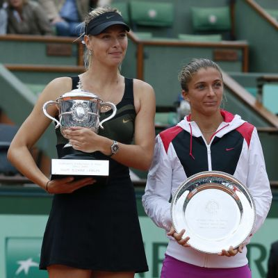 Maria Sharapova ja Sara Errani