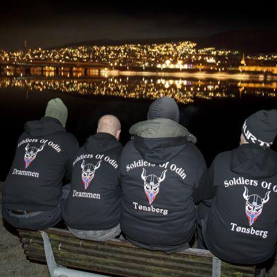 Soldiers of Odin -ryhmän jäseniä Norjan Drammenissa helmikuussa 2016.