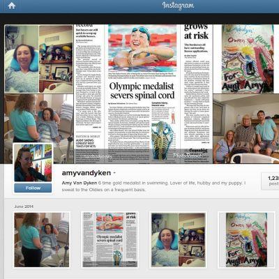 Kuvakaappaus Amy Van Dykenin Instagram-tililtä.