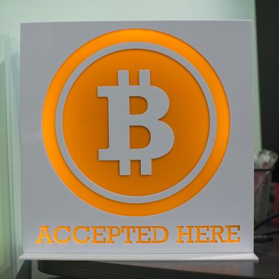 Bitcoin-merkki Hong Kongissa.
