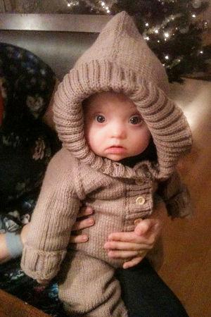 Laila Huurinainen vauvana.